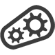 Icon für Getriebeschmierstoffe